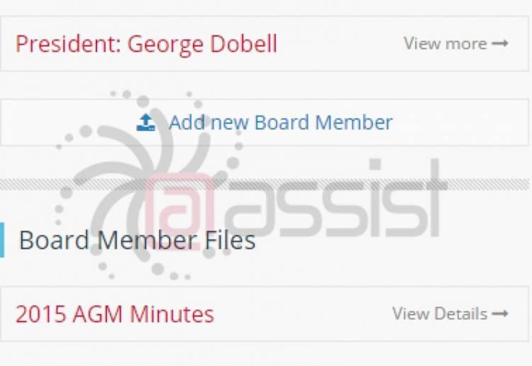 New Feature: Board Member Section